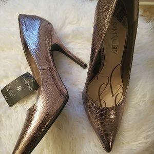 Pewter heels